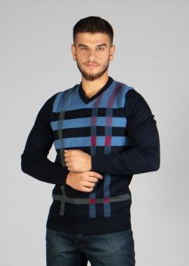 V-Neck  Cotton Sweatshirt